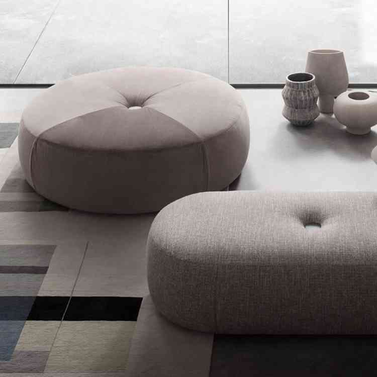 Aley Ottoman from LEMA at Pure Interiors