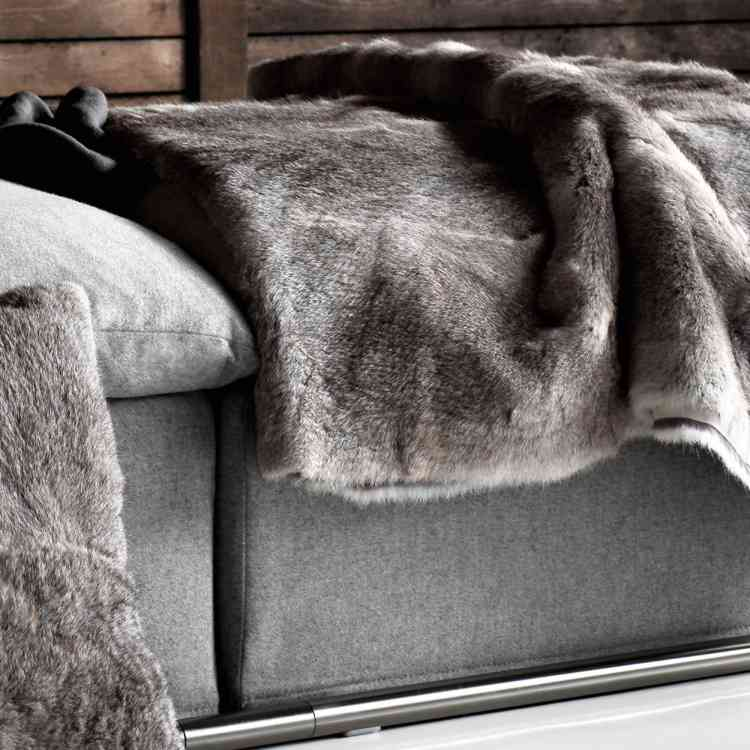 Fur Throws by Ivano Redaelli from Pure Interiors |