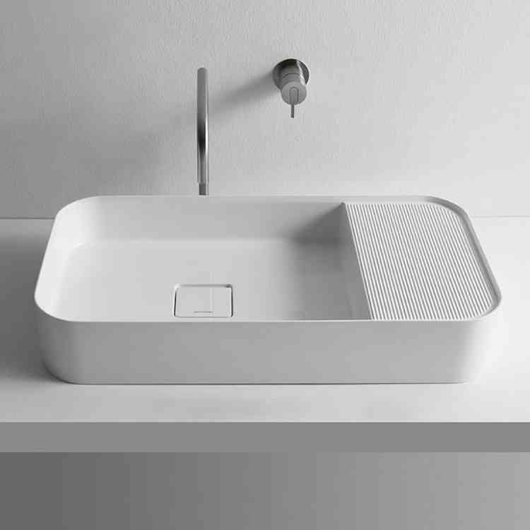 Graffio Wash-basin by Antonio Lupi from Pure Interiors