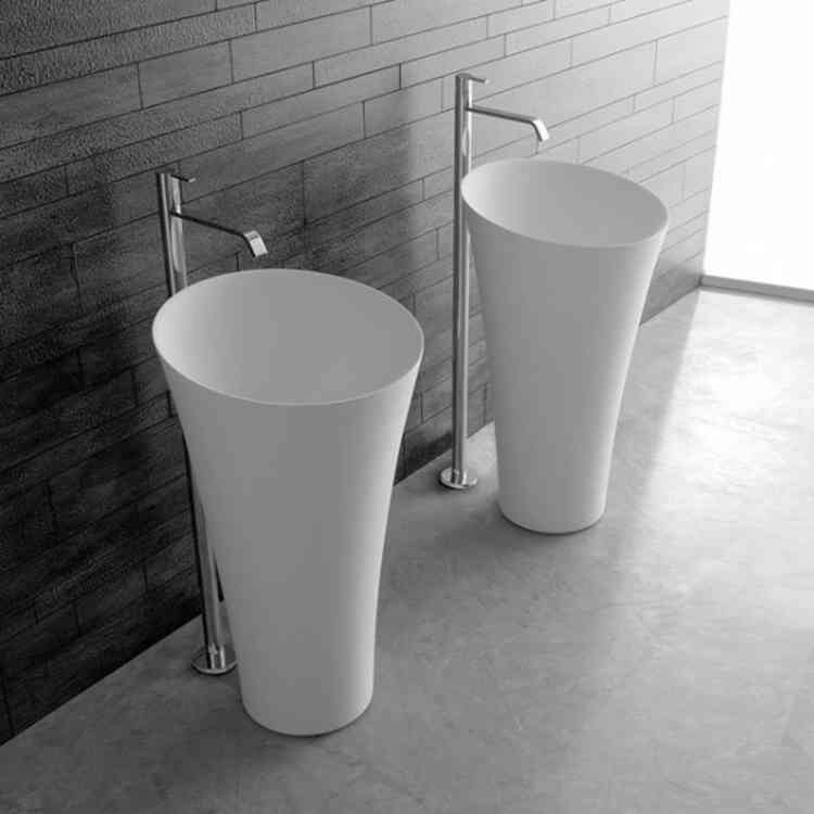 Tuba Wash-basin from Antonio Lupiat Pure Interiors