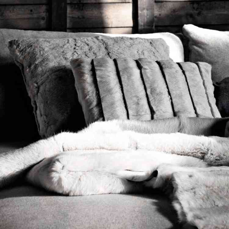 Fur Cushions by Ivano Redaelli from Pure Interiors |