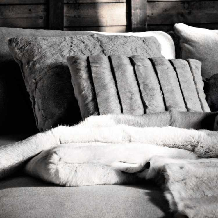 Fur Cushions from Ivano Redaelliat Pure Interiors